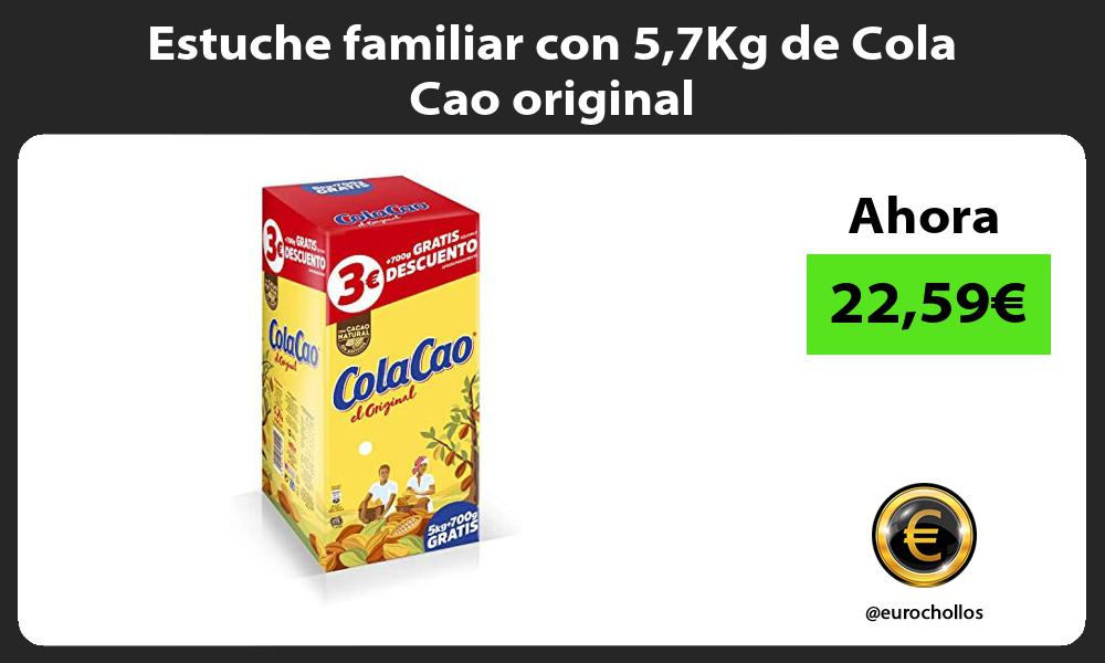 Estuche familiar con 57Kg de Cola Cao original
