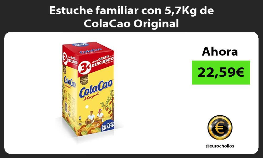 Estuche familiar con 57Kg de ColaCao Original