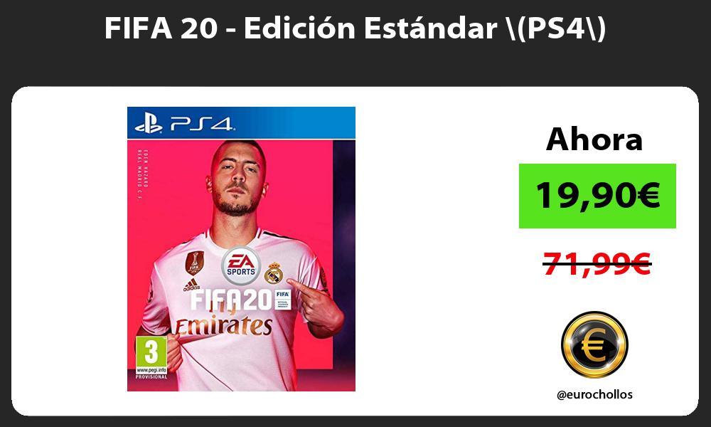 FIFA 20 Edición Estándar PS4