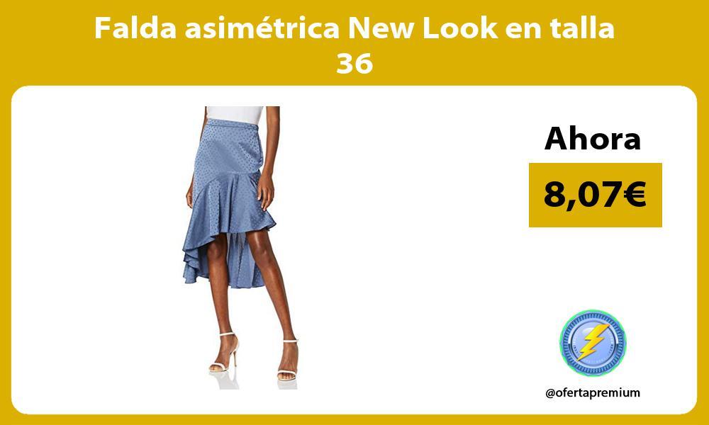 Falda asimétrica New Look en talla 36