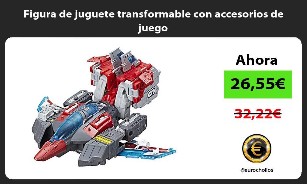 Figura de juguete transformable con accesorios de juego