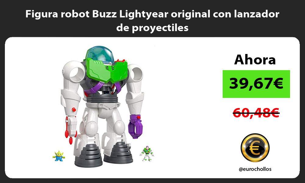 Figura robot Buzz Lightyear original con lanzador de proyectiles