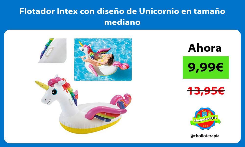 Flotador Intex con diseño de Unicornio en tamaño mediano