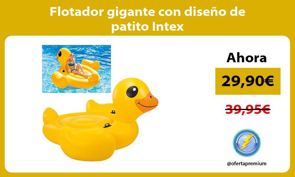 Flotador gigante con diseño de patito Intex