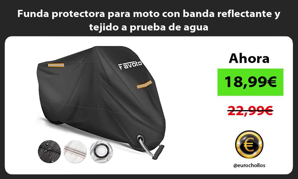 Funda protectora para moto con banda reflectante y tejido a prueba de agua