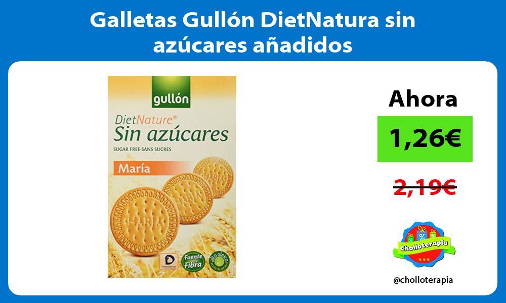 Galletas Gullón DietNatura sin azúcares añadidos