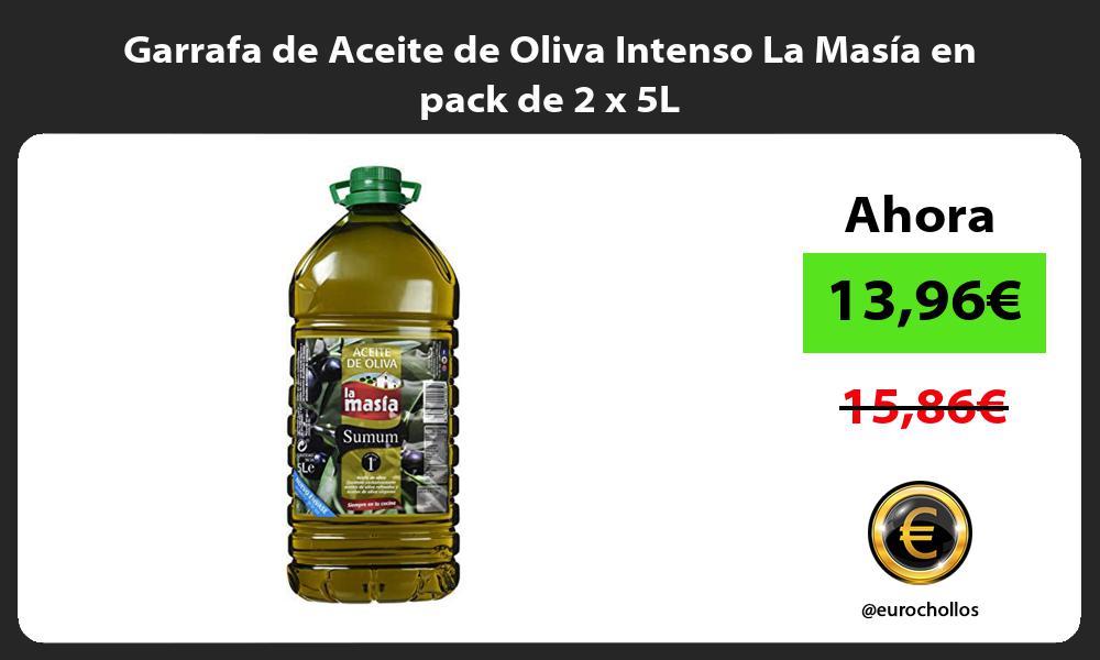 Garrafa de Aceite de Oliva Intenso La Masía en pack de 2 x 5L