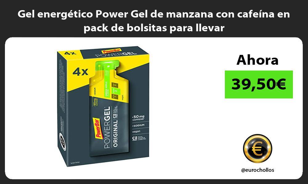 Gel energético Power Gel de manzana con cafeína en pack de bolsitas para llevar