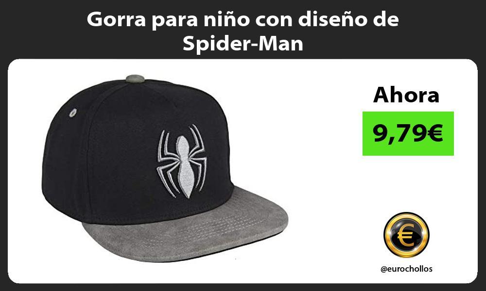 Gorra para niño con diseño de Spider Man