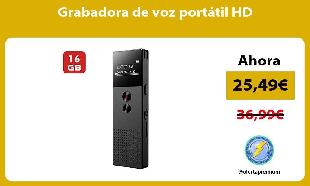 Grabadora de voz portátil HD