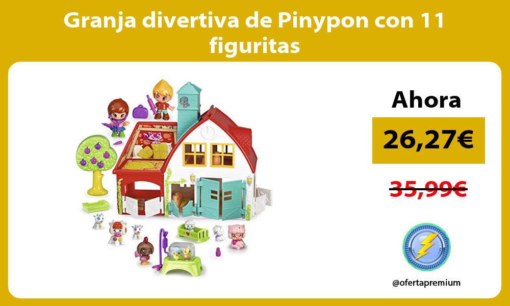 Granja divertiva de Pinypon con 11 figuritas