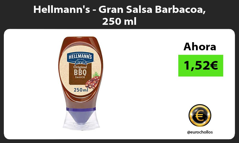 Hellmanns Gran Salsa Barbacoa 250 ml