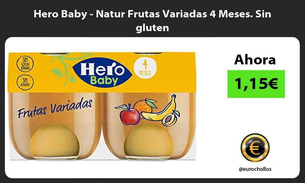 Hero Baby Natur Frutas Variadas 4 Meses Sin gluten
