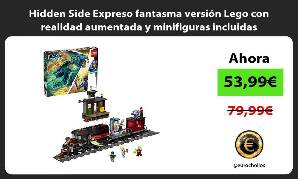 Hidden Side Expreso fantasma versión Lego con realidad aumentada y minifiguras incluidas
