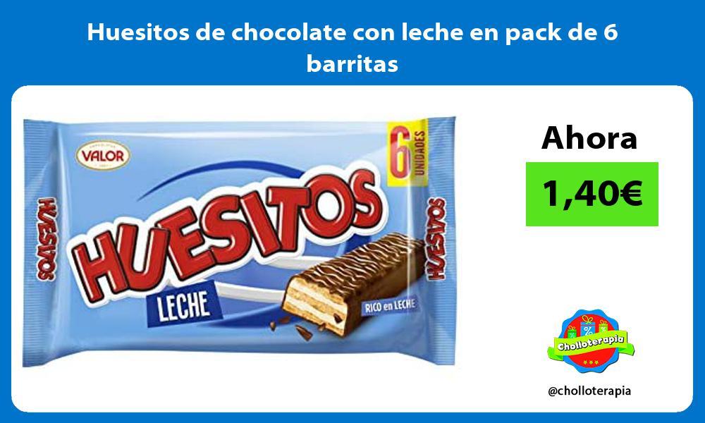 Huesitos de chocolate con leche en pack de 6 barritas