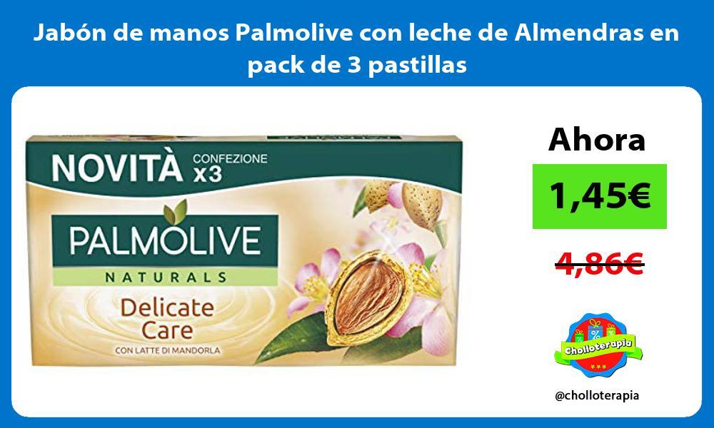 Jabón de manos Palmolive con leche de Almendras en pack de 3 pastillas