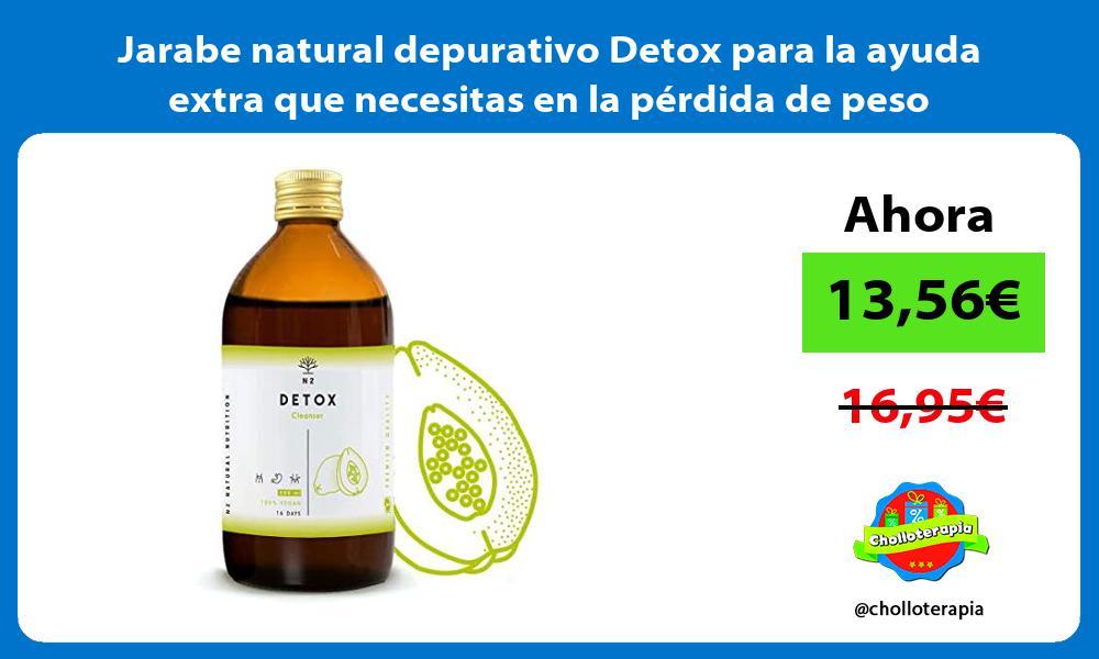 Jarabe natural depurativo Detox para la ayuda extra que necesitas en la pérdida de peso