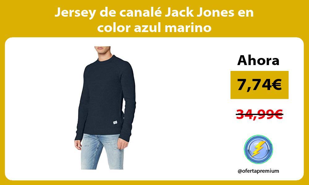 Jersey de canalé Jack Jones en color azul marino