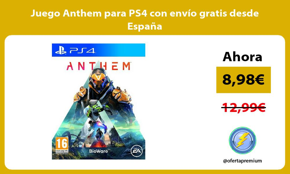 Juego Anthem para PS4 con envío gratis desde España