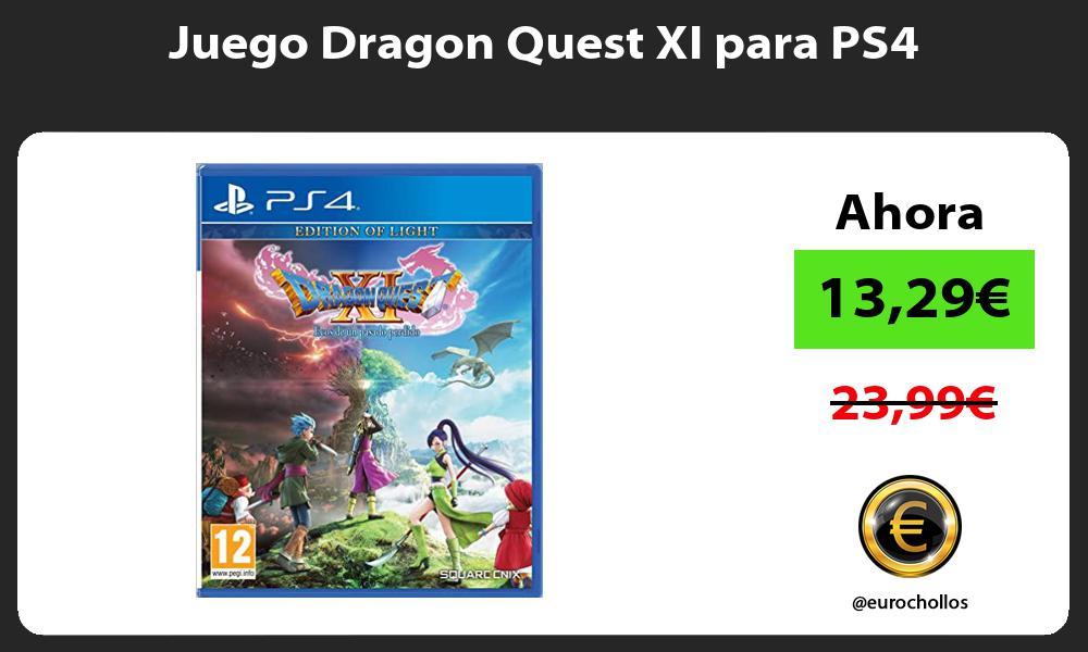 Juego Dragon Quest XI para PS4