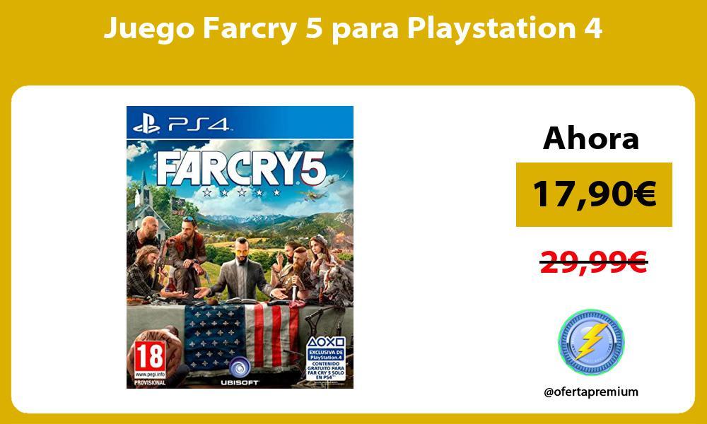 Juego Farcry 5 para Playstation 4