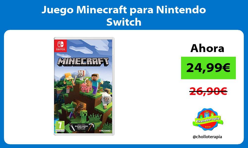 Juego Minecraft para Nintendo Switch