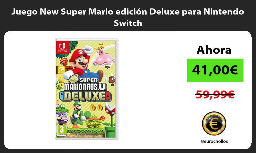 Juego New Super Mario edición Deluxe para Nintendo Switch