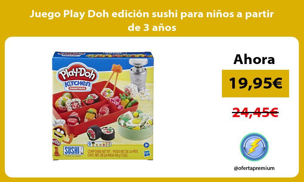 Juego Play Doh edición sushi para niños a partir de 3 años