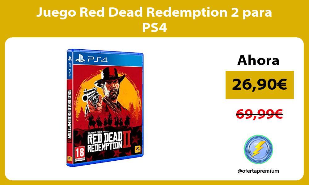 Juego Red Dead Redemption 2 para PS4
