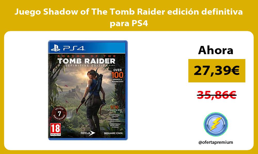 Juego Shadow of The Tomb Raider edición definitiva para PS4