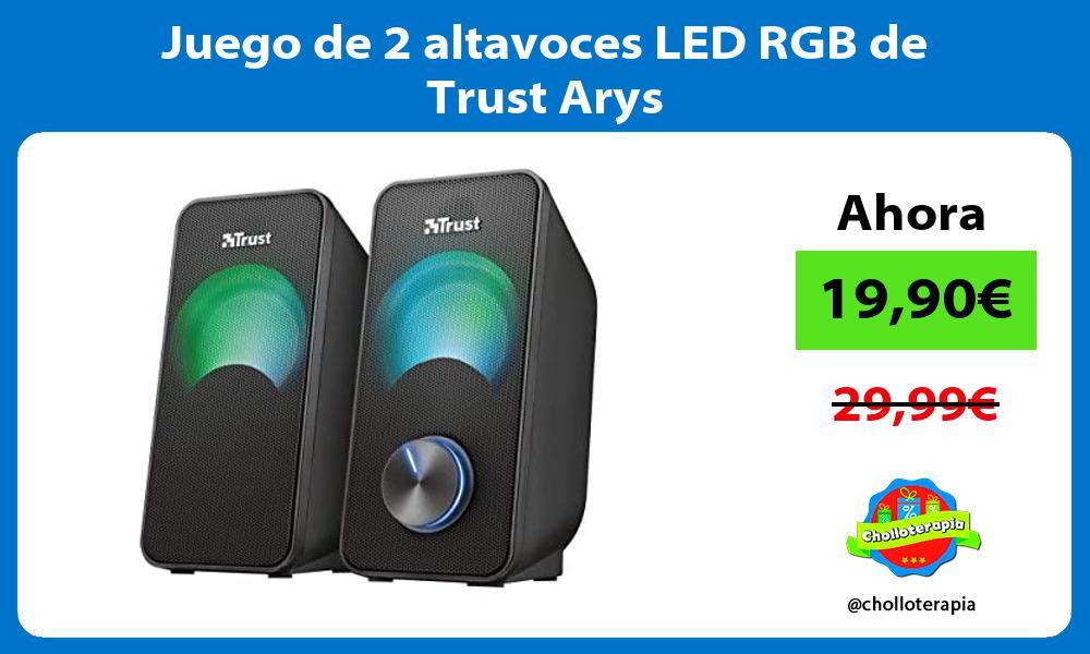 Juego de 2 altavoces LED RGB de Trust Arys