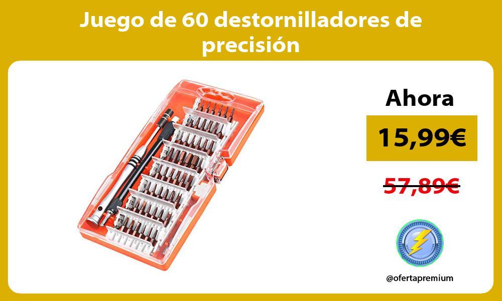 Juego de 60 destornilladores de precisión