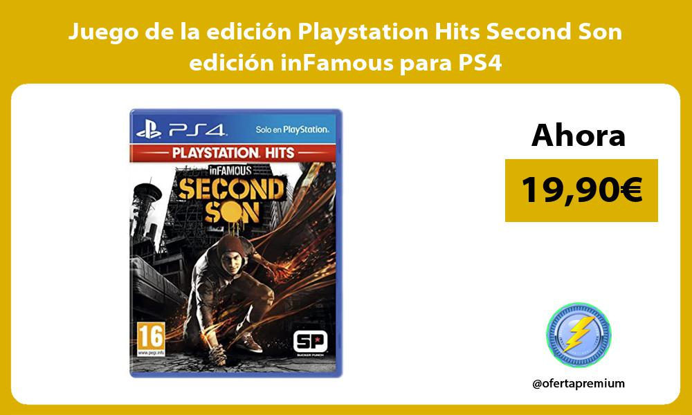 Juego de la edición Playstation Hits Second Son edición inFamous para PS4