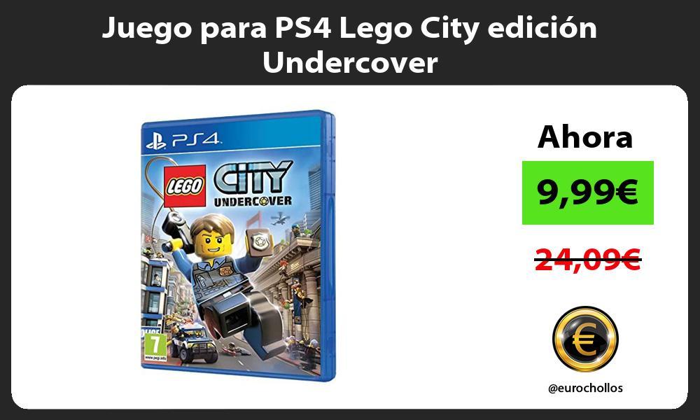 Juego para PS4 Lego City edición Undercover