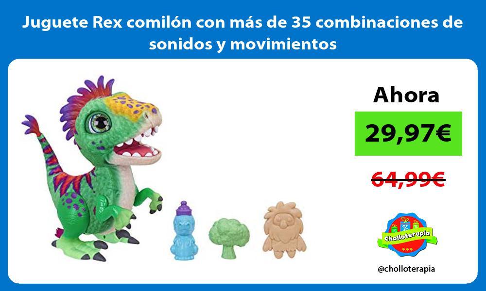 Juguete Rex comilón con más de 35 combinaciones de sonidos y movimientos