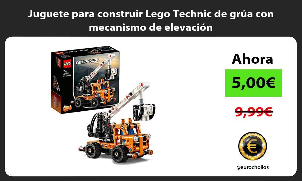 Juguete para construir Lego Technic de grúa con mecanismo de elevación