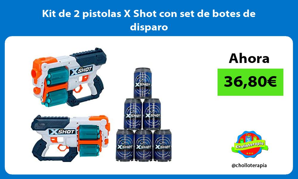 Kit de 2 pistolas X Shot con set de botes de disparo