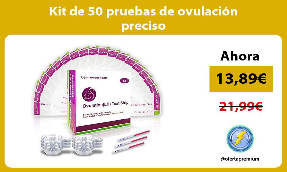 Kit de 50 pruebas de ovulación preciso