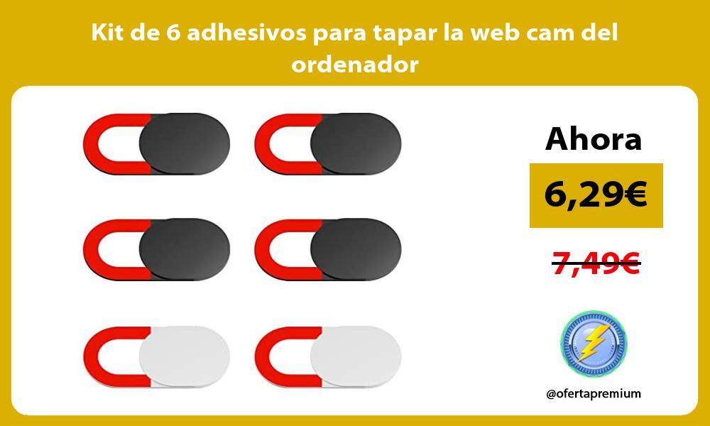 Kit de 6 adhesivos para tapar la web cam del ordenador