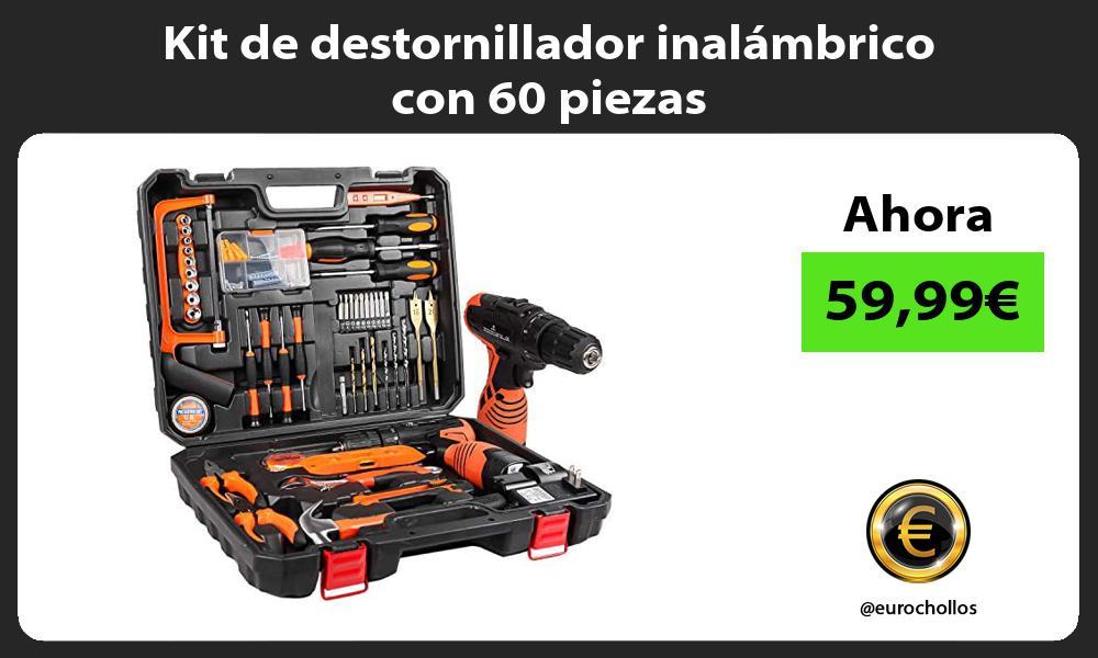 Kit de destornillador inalámbrico con 60 piezas