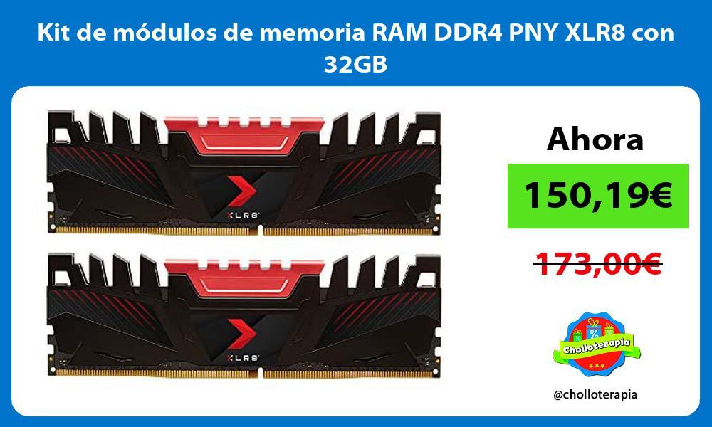 Kit de módulos de memoria RAM DDR4 PNY XLR8 con 32GB