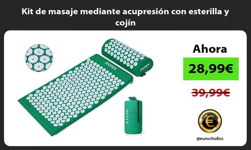 Kit de masaje mediante acupresión con esterilla y cojín