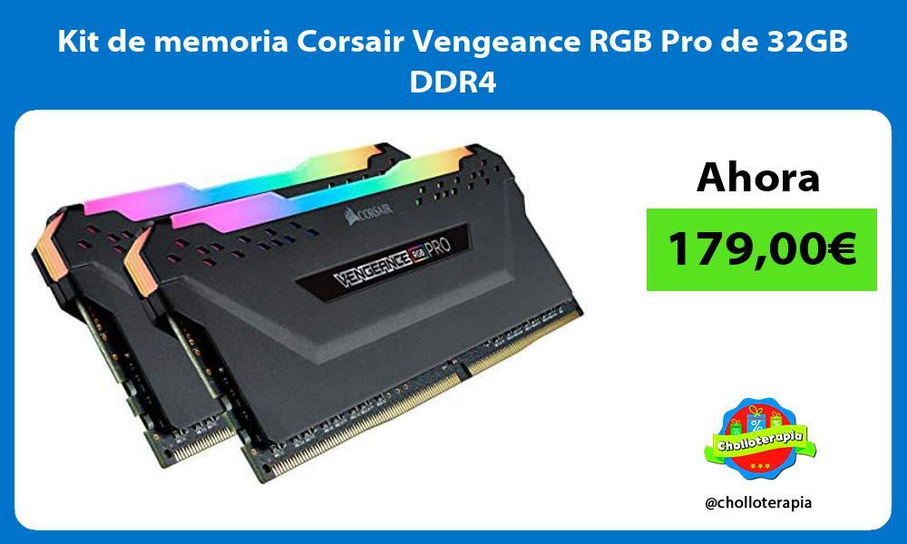 Kit de memoria Corsair Vengeance RGB Pro de 32GB DDR4
