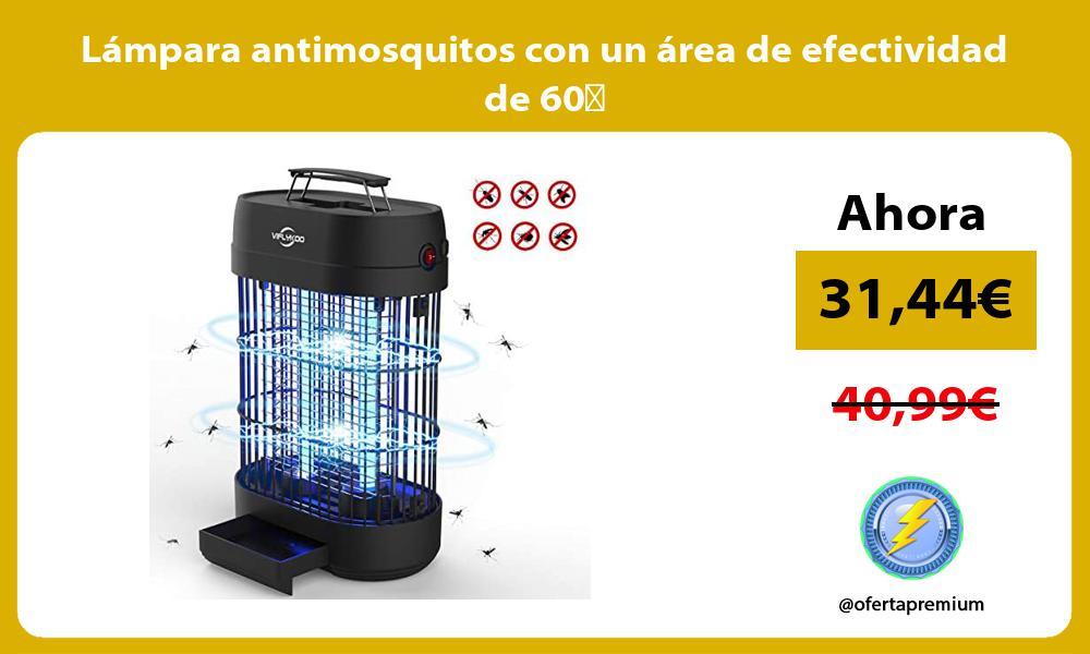 Lámpara antimosquitos con un área de efectividad de 60㎡
