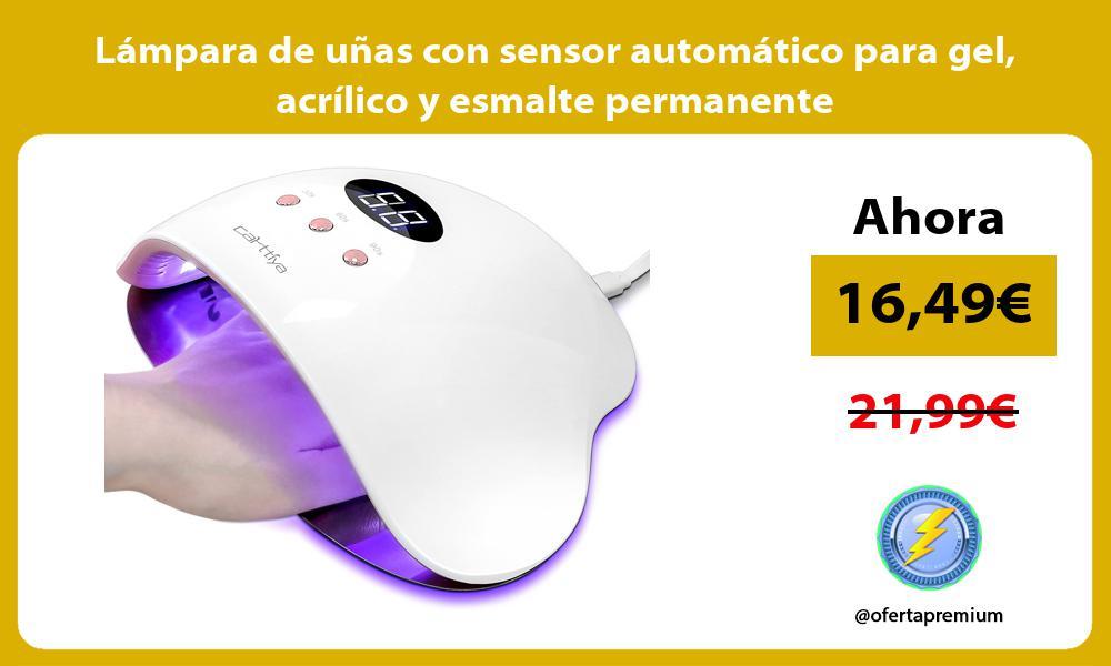 Lámpara de uñas con sensor automático para gel acrílico y esmalte permanente