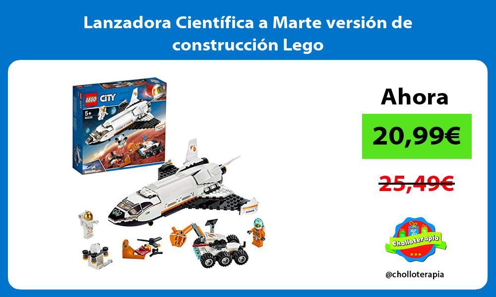 Lanzadora Científica a Marte versión de construcción Lego