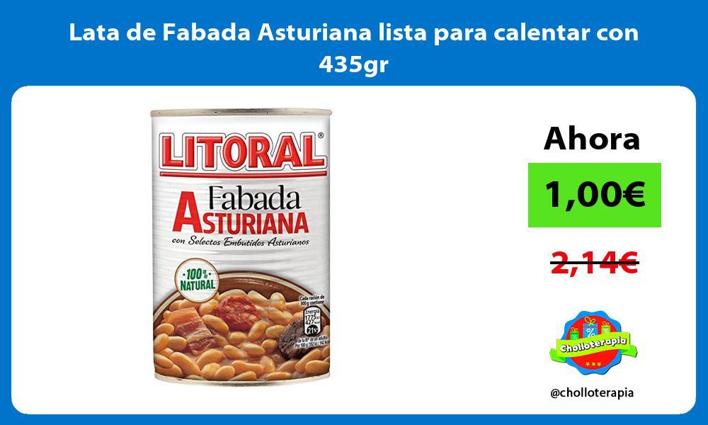 Lata de Fabada Asturiana lista para calentar con 435gr