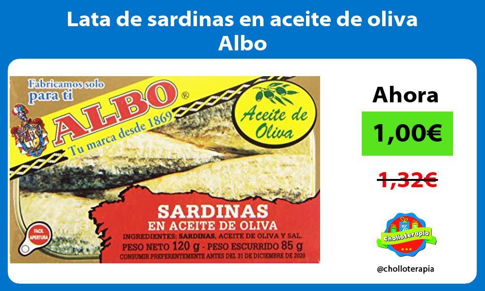 Lata de sardinas en aceite de oliva Albo