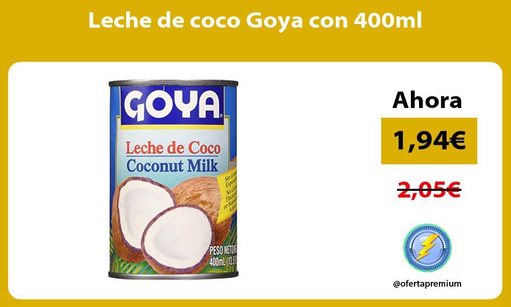 Leche de coco Goya con 400ml