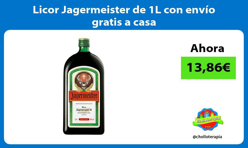 Licor Jagermeister de 1L con envío gratis a casa